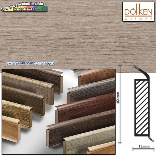Döllken EP 60/13 Farbe: 2660 (W660) chene gris Kernsockelleiste auf DeinBoden24.de