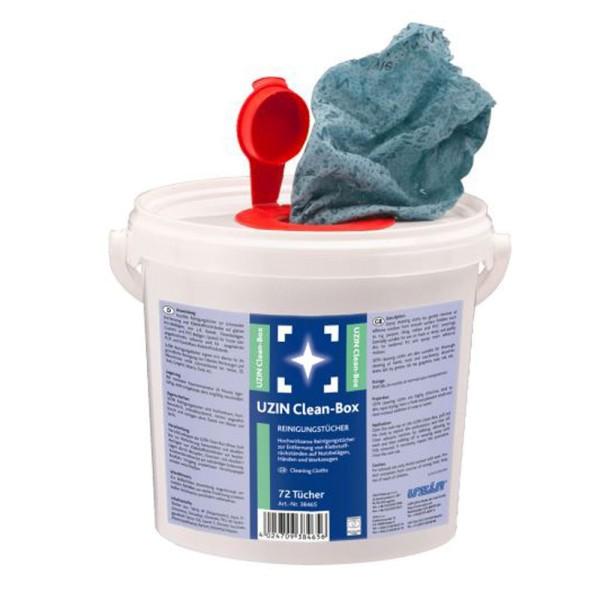 UZIN Clean-Box Hochwirksame Tücher zur Entfernung von Klebstoffrückständen auf Nutzbelägen, Händen und Werkzeugen auf Bodenchemie.de