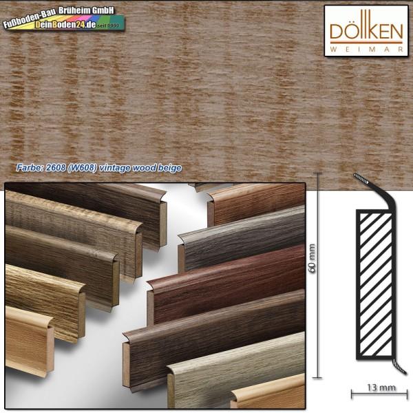 Döllken EP 60/13 Farbe: 2608 (W660) chene gris Kernsockelleiste auf DeinBoden24.de